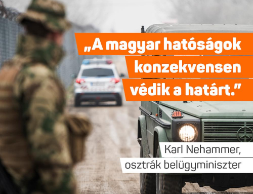 Az osztrák belügyminiszter köszönetet mondott Magyarországnak, amiért megállítottuk …