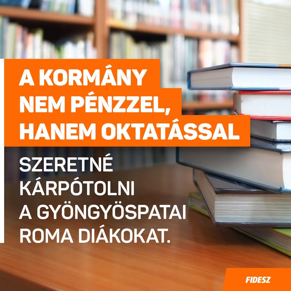 A kormány nem pénzzel, hanem oktatással szeretné kárpótolni a gyöngyöspatai roma diá…
