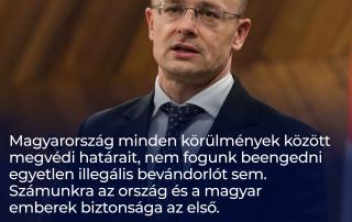 Magyarország minden körülmények között megvédi határait, nem fogunk beengedni egyetl…