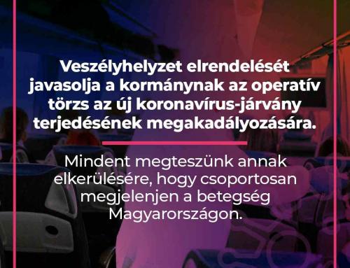 Veszélyhelyzet elrendelését javasolja a kormánynak az operatív törzs az új koronavír…